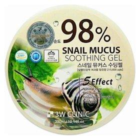 Гель для тела универсальный с экстрактом слизи улитки Snail Soothing Gel 98%  3W CLINIC
