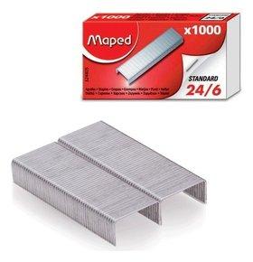 Скобы для степлера №24/6, 1000 штук, Maped, до 20 листов  Maped