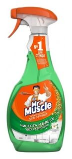 Средство для мытья стекол с нашатырным спиртом  Mr Muscle