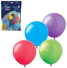 """Шары воздушные 8"""" (21 см), комплект 100 шт., 12 пастельных цветов, в пакете  Веселая затея"""