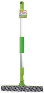 Стекломойка алюминиевая телескопическая ручка 50-90 см, рабочая часть 25 см (стяжка, губка, ручка)  Любаша