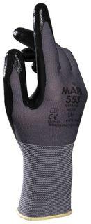 Перчатки текстильные Ultrane 553, нитриловое покрытие (облив), размер 8 (M), черные  Mapa