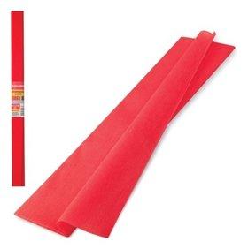 Цветная бумага красная крепированная  Brauberg