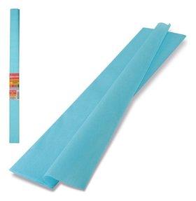 Цветная бумага голубой крепированная  Brauberg
