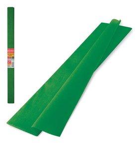 Цветная бумага крепированная плотная, растяжение до 45%, рулон, темно-зеленая  Brauberg