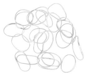 Резинки для волос силиконовые белые mini, 100 шт  Dewal