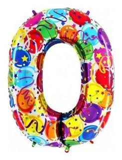 Шар цифра 0  Grabo Balloons