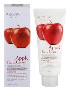 Крем для рук увлажняющий с экстрактом яблока Moisturizing Apple Hand Cream  3W CLINIC