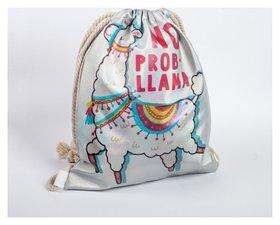 Сумка для обуви с голографией No Prob-llama  КНР