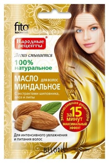 Миндальное масло для волос с экстрактами шиповника, алоэ и липы