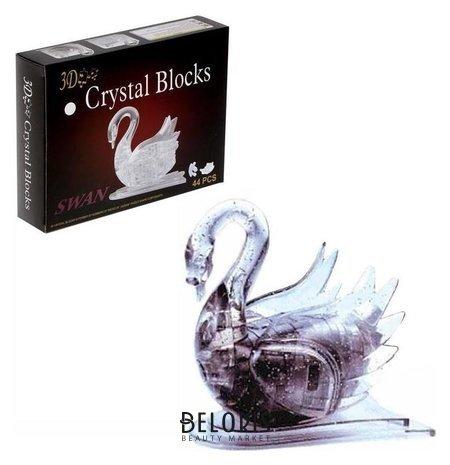 Пазл 3D кристаллический Лебедь 44 детали No name