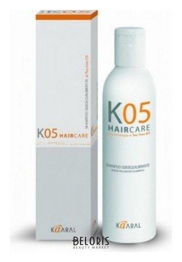 Шампунь для волос KaaralШампунь для волос<br>Шампунь для очищения жирной кожи головы. Благодаря входящему в состав маслу чайного дерева и другим активным компонентам нормализует работу сальных желез. Волосы надолго остаются чистыми и здоровыми.<br>Пол: Женский; Линейка: KO5 трихологическая линия; Объем мл: 250;