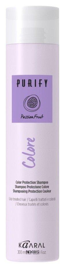 Шампунь для волос KaaralШампунь для волос<br>Colore Shampoo. Шампунь для окрашенных волос. Надолго гарантирует окрашенным волосам яркий и интенсивный цвет. Его сбалансированный pH и питательная формула, обогащенная экстрактом и маслом семян маракуйи, возвращают мягкость и увлажнение капиллярного волокна. Масло ягод асаи (акаи) выполняет антиоксидантное действие, которое борется со свободными радикалами и продлевает интенсивность цвета, обладает мощным увлажняющим эффектом . Масло рисовых отрубей делает волосы мягкими и увлажненными. Волосы здоровые, яркие и блестящие.<br>Пол: Женский; Линейка: PURIFY уход, питание, защита; Объем мл: 250;