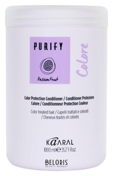 Кондиционер для волос KaaralКондиционер для волос<br>Colorе Conditioner. Кондиционер для окрашенных волос. Обеспечивает более длительный яркий и интенсивный цвет. Питательная формула, обогащенная экстрактом и маслом семян маракуйи, увлажняет и восстанавливает структуру волос подвергнутых химическим процедурам, борется со свободными радикалами, закрывает кутикулу и увеличивает интенсивность цвета. Масло ягод асаи (акаи) выполняет антиоксидантное действие, которое борется со свободными радикалами и продлевает интенсивность цвета, обладает мощным увлажняющим эффектом. Масло рисовых отрубей делает волосы мягкими и увлажненными. Волосы яркие, здоровые и легко расчёсываемые. БЕЗ СОДЕРЖАНИЯ: Парабена/Минеральных масел/Глютена.<br>Пол: Женский; Линейка: PURIFY уход, питание, защита; Объем мл: 1000;