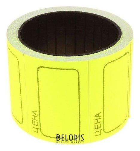 Купить Набор из 6 роликов, в 1 ролике 120 штук, ценники самоклеящиеся, 25 х 35 мм, жёлтые, Calligrata, Россия