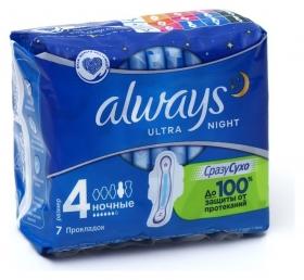 Прокладки Always Ultra Night, 7 шт  Always
