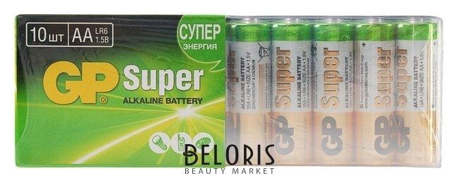 Батарейка алкалиновая GP Super, AA, Lr6-10s, 1.5в, спайка, 10 шт