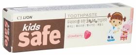 Зубная паста детская Kids Safe клубника  CJ Lion