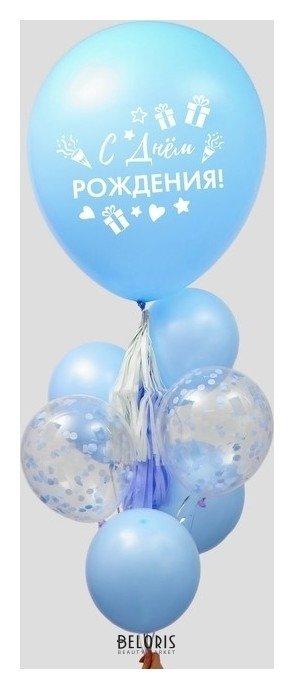 Купить Фонтан из шаров С днем рождения , гирлянда, наклейки, конфетти, 16 предметов в наборе, Страна Карнавалия, Россия