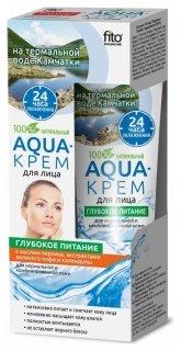 Aqua-крем для лица на термальной воде Камчатки с маслом персика, экстрактом зеленого кофе и календулы «Глубокое питание»  Фитокосметик