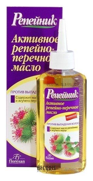 Масло для волос ФлоресанМасло для волос<br>Репейно-перечное масло это мощное, проверенное временем средство против облысения при различных причинах выпадения волос. Активные компоненты масла репейника и перца внедряются в структуру кожи, укрепляя и питая корни волос. Подходит при умеренном и обильном выпадении волос, а также как профилактическое средство. Особенно эффективно в сочетании с шампунем и другими средствами серии Репейник. При нанесении может чувствоваться легкое жжение, которое проходит после смывания масла.<br>Пол: Женский; Объем мл: 100;