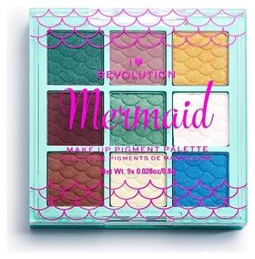 Палетка пигментов для лица Mermaid Make Up Pigment Palette  I Heart Revolution