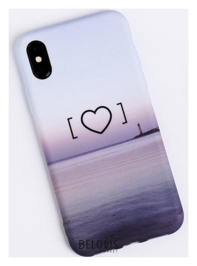 Чехол для телефона Iphone X/xs «Любовь‒это маяк» Soft Touch, 14.5 × 7 см NNB