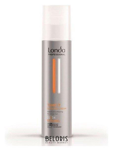 Крем для волос LondaКрем для волос<br>Разглаживающий крем для волос сильной фиксации Londa Professional Sleek Cream Tamer это незаменимое средство для укладки вьющихся, жестких и непослушных волос. Специальная формула, разработанная специалистами немецкой компании Londa, позволяет укротить даже самые трудные волосы, делая их мягкими, гладкими и эластичными. Нежная консистенция разглаживающего крема способствует его легкому нанесению и равномерному распределению по всей длине волос. Средство не утяжеляет и не склеивает пряди, оставляя их естественными и подвижными. Эффект гладкости сохраняется до следующего мытья волос. Уникальная комбинация природных компонентов обеспечивает уход волосам, восстанавливает водный баланс их структуры и придает им невероятную гладкость. Пантенол защищает волосы от теплового воздействия при ежедневной укладке, мягко увлажняет и питает. Результатом применения разглаживающего крема для волос сильной фиксации Londa Professional Sleek Cream Tamer станут гладкие послушные волосы, надежно защищенные от теплового воздействия.<br>Пол: Женский; Линейка: Texture-идеальная форма; Объем мл: 200;