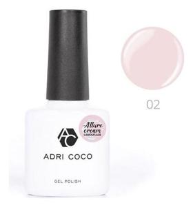 Гель-лак Adricoco Allure сream №02 камуфлирующий нежно-розовый, 8 мл  ADRICOCO
