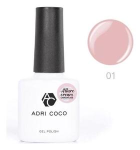 Гель-лак Adricoco Allure сream №01 камуфлирующий розовый, 8 мл  ADRICOCO