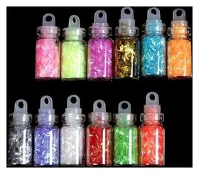 Стружка для декора, 12 бутылочек  NNB