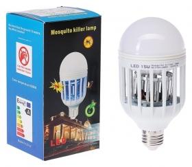 """Лампа светодиодная """"Убийца комаров"""", 15 Вт, е27, 175-265 В, подсветка, 2 режима  NNB"""