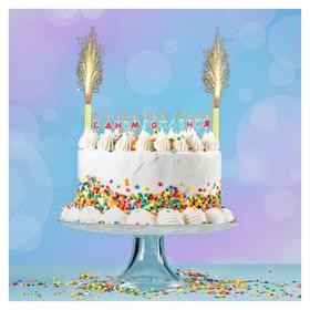 """Набор свечей в торт """"С днём рожнения"""", буквы + 2 фонтана  NNB"""