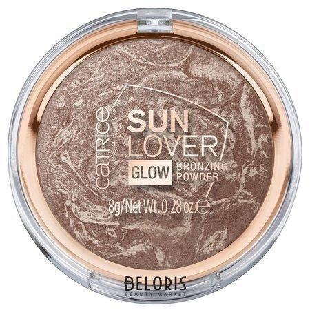 """Компактная пудра с эффектом загара """"Sun Lover Glow Bronzing Powder"""" 010"""