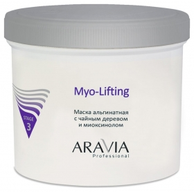 "Маска альгинатная с чайным деревом и миоксинолом ""Myo-lifting""  Aravia Professional"