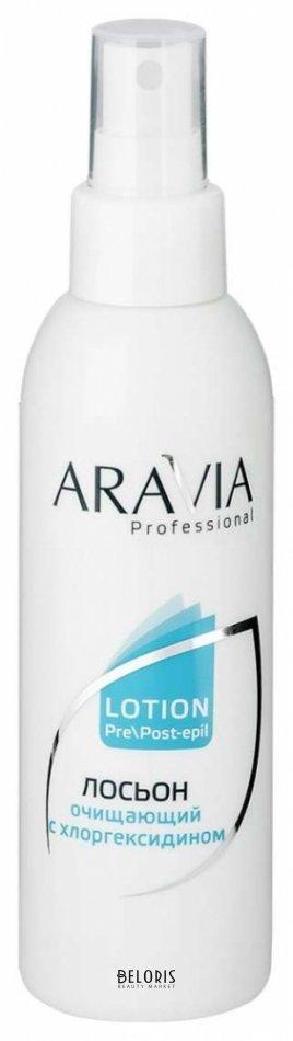 Лосьон для лица Aravia ProfessionalЛосьон для лица<br>Лосьон с хлоргексидином (0,1%) предназначен для наружного применения, обработки кожи тела и лица как перед процедурой депиляции так и после неё. Используется для профессионального применения. Оказывает очищающее, тонизирующее и успокаивающее действие, помогает избежать раздражения после депиляции, особенно в области с чувствительной кожей. Защищает кожу от бактерий, способствующих воспалению, предотвращать рост и размножение микроорганизмов. Не сушит кожу, подходит для применения на всех типах кожи, участков тела и лица (кроме глаз), может применяться в зоне бикини. Меры предосторожности: профессиональный продукт, перед применением проконсультируйтесь со специалистом. Не наносить на раздражённую кожу. Во избежание индивидуальной непереносимости компонентов перед применением протестируйте на небольшом участке кожи. Условия хранения: в сухом месте при температуре от 5 до 25 С. Преимущества перед аптечным хлоргексидином более концентрированный раствор 0,1% в пересчёте на хлоргексидин. В аптечных препаратах 0,05%. Для всех типов кожи. Наносить на кожу рук и перчатки.<br>Пол: Женский; Объем мл: 150;