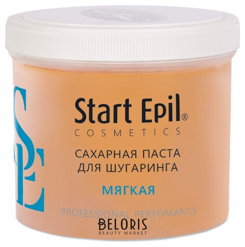 Паста для шугаринга для тела Start EpilПаста для шугаринга для тела<br>Назначение: для всех типов волос и кожи. Профессиональное применение. Зоны депиляции: рекомендуется для депиляции всех зон. Рабочая температура продукта: 37С Техника депиляции: мануальная. Сахарная паста для шугаринга Start Epil предназначена для мануальной техники депиляции. Паста предназначена для смешивания между собой с целью достижения требуемой консистенции с учётом условий окружающей среды, температуры рук мастера, типа кожи и жесткости волос у клиента. Сахарная паста не травмирует живые клетки кожи, деликатно удаляя волосы 2-5 мм. Волосы становятся более тонкими и ослабленными. Диаметр уменьшается на 50%. Последующие процедуры депиляции становятся менее болезненными и понадобятся все реже и реже.<br>Пол: Женский; Вес г: 750;