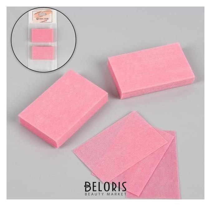 Купить Салфетки для маникюра, безворсовые, 50 шт, цвет розовый, Queen fair, Россия