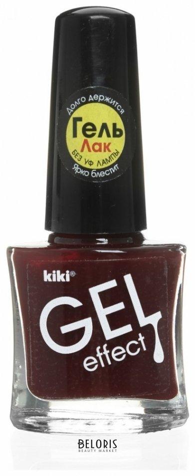 Лак для ногтей KikiЛак для ногтей<br>Сделайте свой образ неповторимым! Лак для ногтей KIKI Gel Effect создаёт невероятный глянец, образует идеально ровное покрытие и не требует сушки под УФ лампой. Удобная плоская кисточка позволяет нанести лак за 1-2 движения.<br>Пол: Женский; Цвет: Тон 14; Объем мл: 6;