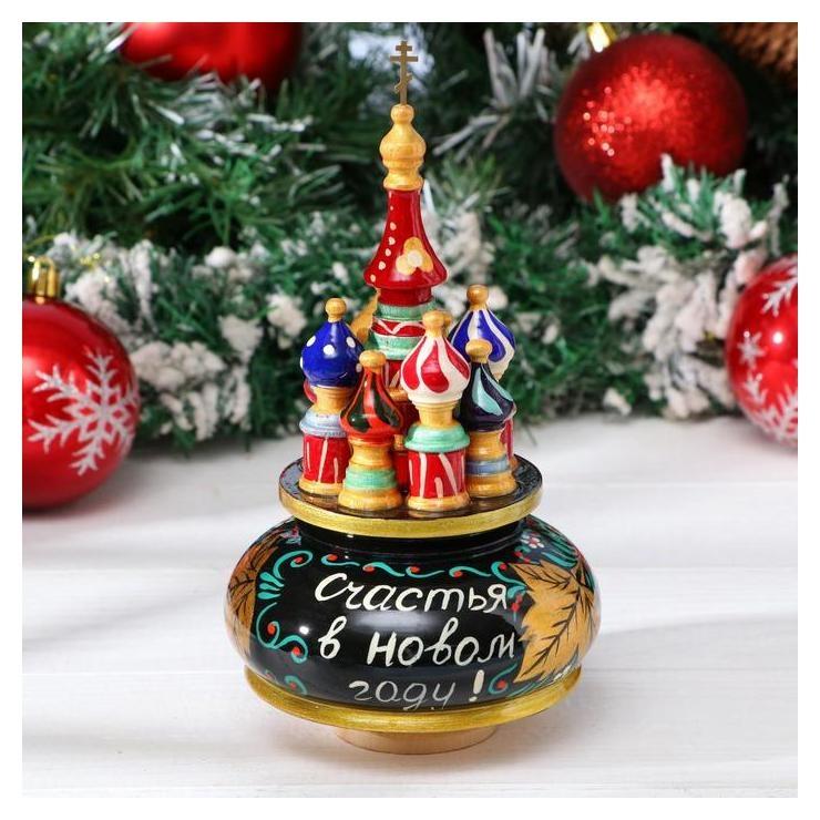 Сувенир музыкальный Храм. новый год, 19х15,5 см NNB