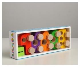 Фигурка деревянная «Каталка» «машинки томик» набор: 5 штук.Томик.Вид-1