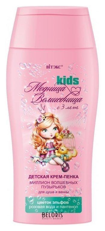 Пена для ванны для тела BelitaПена для ванны для тела<br>Супермягкая формула, без красителей, нейтральный уровень pH. Детская крем-пенка для душа и ванны секрет маленьких волшебниц для необыкновенной красоты очаровательных модниц. Словно по взмаху волшебной палочки, маленькая модница превращается в настоящую принцессу. Миллион волшебных пузырьков, мерцая и искрясь, создают обильную пышную пену, бережно очищая от макушки до пяток. Супермягкая формула крем-пенки с цветком Эльфов и розовой водой оказывает потрясающее смягчающее и успокаивающее действие на кожу, защищает ее от сухости, не щиплет глазки и не вызывает детских слез. D-пантенол увлажняет, питает и защищает кожу. А радостный, яркий аромат увлекает маленьких принцесс в чудесную сказку. Удивительно мягкая и нежная кожа, как у самой прекрасной принцессы в мире! Идеально подходит для ежедневного применения. Рекомендуется для модниц-волшебниц с 3-х лет.<br>Возраст: Детский; Линейка: Модница волшебница с 3 лет; Объем мл: 300;