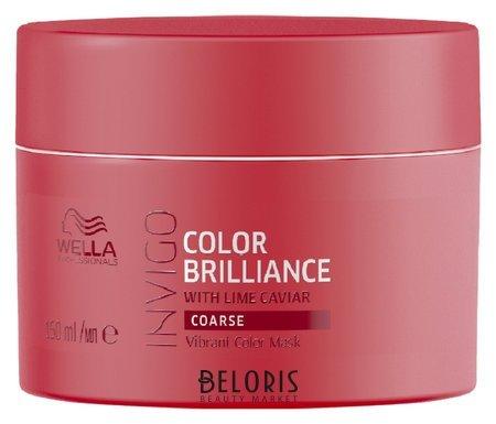 Маска-уход для защиты цвета окрашенных жестких волос Color Brilliance Wella Invigo