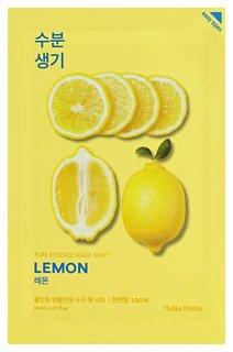 Тонизирующая тканевая маска для лица с экстрактом лимона Pure Essence Mask Sheet Lemon  Holika Holika