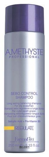Шампунь для жирной кожи головы Regulate sebo controll shampoo FarmaVita Amethyste