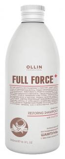 Интенсивный восстанавливающий шампунь с маслом кокоса  OLLIN