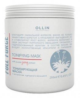 Тонизирующая маска с экстрактом пурпурного женьшеня  OLLIN