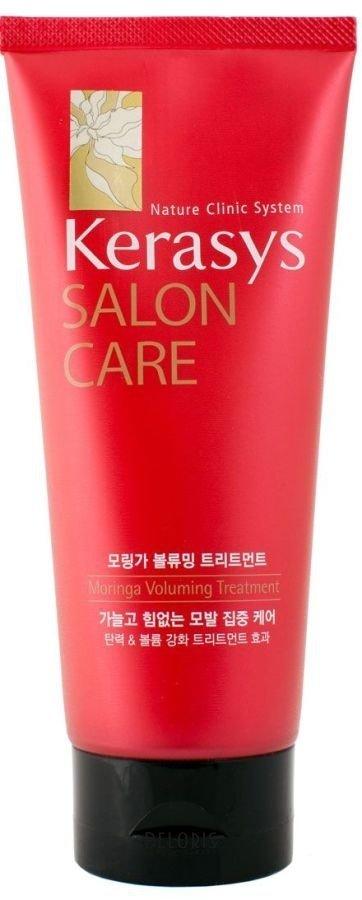 Маска для волос KeraSysМаска для волос<br>Маска для волос Kerasys. Salon Care с экстрактом моринга придает объем, жизненную силу и эластичность поврежденным волосам. Использование маски в 2,5 раза эффективнее использования кондиционера для волос. Следуя системе 3-ступенчатого восстановления волос, тонкие и безжизненные волосы становятся сильными и эластичными. Экстракт моринга, богатый природными протеинами, кератином и витаминами, придает объем и роскошный вид слабым, тонким волосам. Система 3-ступенчатого восстановления: Ступень1: натуральный протеин плодов дерева моринга восстанавливает структуру поврежденного волоса. Ступень2: природный кератин способствует регенерации волос. Ступень3: витамины, содержащиеся в экстракте моринга, придают силу и эластичность. Волосы, не держащие объем выглядят более пышно.<br>Пол: Женский; Линейка: Salon Care; Объем мл: 200;