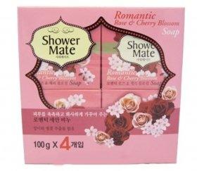 Мыло косметическое SHOWER MATE ROMANTIC ROSE & CHERRY BLOSSOM SOAP  KeraSys