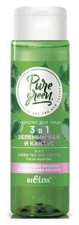 Гидролат для лица 3 в 1 «Зеленый чай и кактус»  Белита - Витекс
